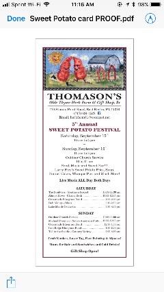 5th Annual Sweet Potato Festival