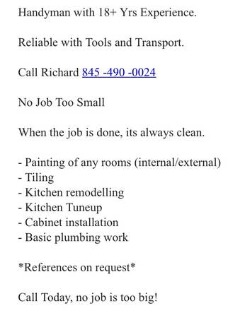 Painter/Bathroom Remodelling/Tiler
