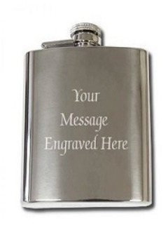 Shop Personalized 8oz Stainless Steel Flask at Wholesale Prices - Free Engraving