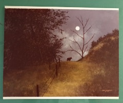 Bull And The Moon Print