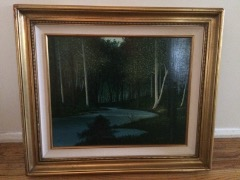 Original Canvas Oil Painting Birches