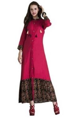 Buy Pink Dress : Pink Cotton Kurti Online