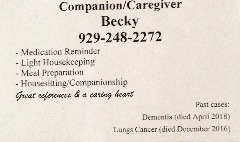 CAREGIVER / COMPANION