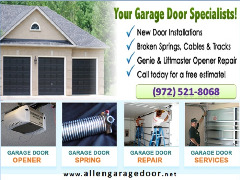 #1 Residential Garage Door Repair Service in Allen, Dallas