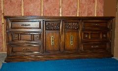Triple Hardwood Dresser
