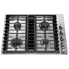 KitchenAid 30 Inch Gas Downdraft Cook top Heavy Duty Burner