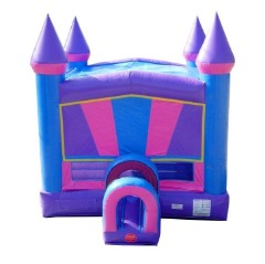 Rhino Pink Modular Bounce House with Tunnel Entrance
