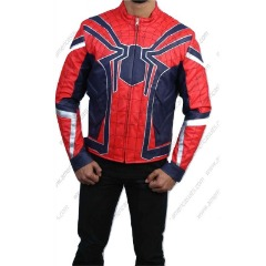 Avenger spiderman Tom Holland Leather Jacekt