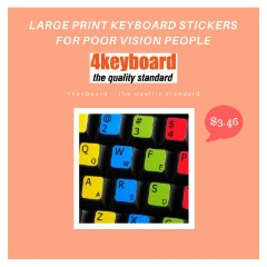 Get Large Print Keyboard Stickers Online In USA