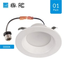 4-inch Dimmable LED Downlights - 10W, Retrofit, CRI 90+