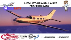 Hired Medilift Air Ambulance Services in Kolkata with Best Medical Team