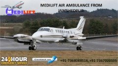 Get ICU Support Medilift Air Ambulance Services in Jamshedpur