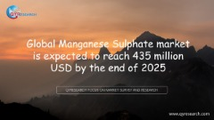 Global Manganese Sulphate market is expected to reach 435 million USD by the end of 2025