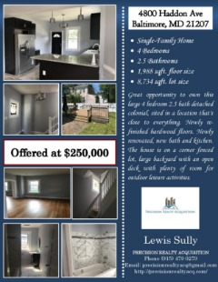 Spectacular 4 Bedrooms 2 Bath Home!