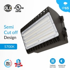 LED Wall Pack ; Semi Cut Off ; 5700K