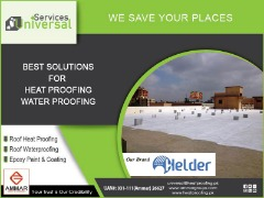 Roof Waterproofing in Karachi, Roof waterproofing in Pakistan