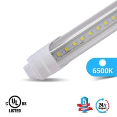 T8 8ft 48W R17 LED Tube Light 5800 Lumens 6500K Clear