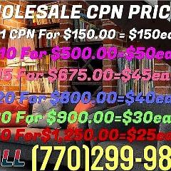 770-299-9853 WHOLESALE BULK $50 CPN NUMBERS