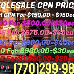 770-299-9853 WHOLESALE BULK $50  CPN NUMBERS NATIONWIDE
