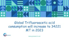 Global Trifluoroacetic acid consumption will increase to 34221 MT in 2023