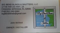 BIG BEND BLINDS & SHUTTERS, LLC.