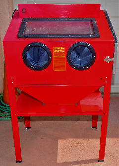 Central Pneumatic Abrasive Blast Cabinet 40 lb Capacity + Accessories Never Used