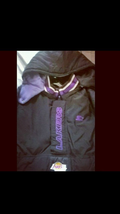 Lakers Authentic Starter basketball Jacket with hoodie