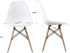 Set of 4 Non-Slip Beech Leg Eames Dining Side Chair for only $88