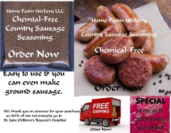 Order the best Country Sausage Seasoning now, B3G1F, FREE shipping & a free gift