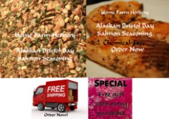 Order the best Alaskan Bristol Bay Salmon seasoning now & get free shipping & a free gift!