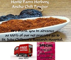 Order Chemical-Free Ancho Chili Powder now, FREE shipping & a free gift!