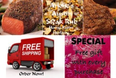 Order the best Arlene's Austin Steak Rub Now, FREE gift & Free shipping