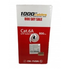 Cat6A CMR Riser Rated 1000FT Bulk Cable Solid Copper White
