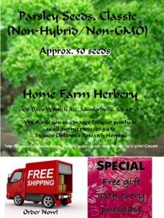 Order Parsley Curly Moss Heirloom Seeds now and get FREE shipping and Free gift!