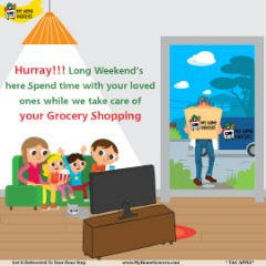 Long Weekend's Shopping Online Euless,Texas - MyHomeGrocers