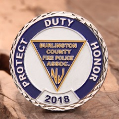 Fire Police Challenge Coins