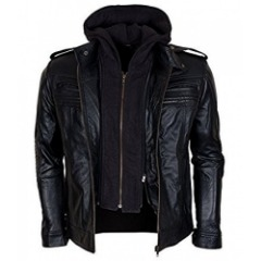 CAFE RACER QUILTED DISTRESSED BROWN JACKET
