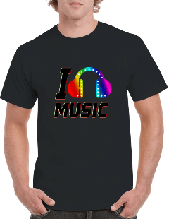 Custom LED light up T Shirts with your design, Create customised LED Tshirt with your logo, Personal