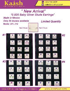 "New Arrival ""0.925 Baby Silver Studs Earrings"""