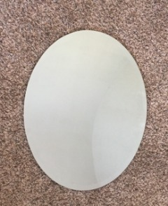 oval wall mirror beveled edge