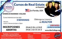 CURSOS DE REAL ESTATE en ESPAÑOL, HOLLYWOOD, FLORIDA