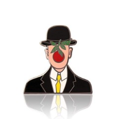 GS-JJ Cool Gentleman Enamel Lapel Pin