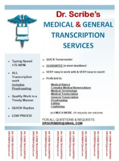 MEDICAL & GENERAL TRANSCRIPTION SERVICES