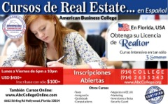 CURSOS DE REAL ESTATE en ESPAÑOL, FLORIDA-USA