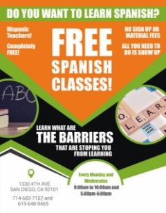 FREE SPANISH CLASSES!