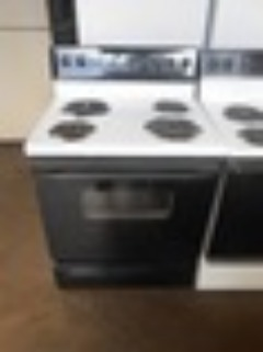KENMORE BY GE 30 INCH FREE STANDING SELF CLEAN ELECTRIC RANGE COIL BURNERS