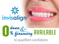 Invisalign 0% down & financing