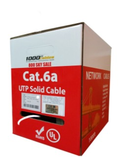 Bulk Cat6a Plenum 1000FT Solid Copper UL Networking Cable with Best Price and Free Shipping
