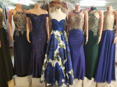 Variety of evening dresses, short dresses, wedding dresses and quinceanera (Sizes XXS - 4XL)