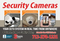 Sale, maintenance and installation of HD surveillance cameras